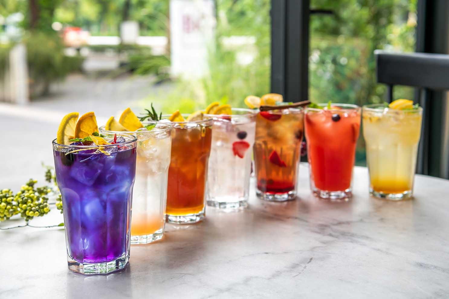 Lineup of HOmemade Soda