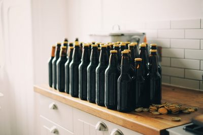 Bottles of Homebrew Beer
