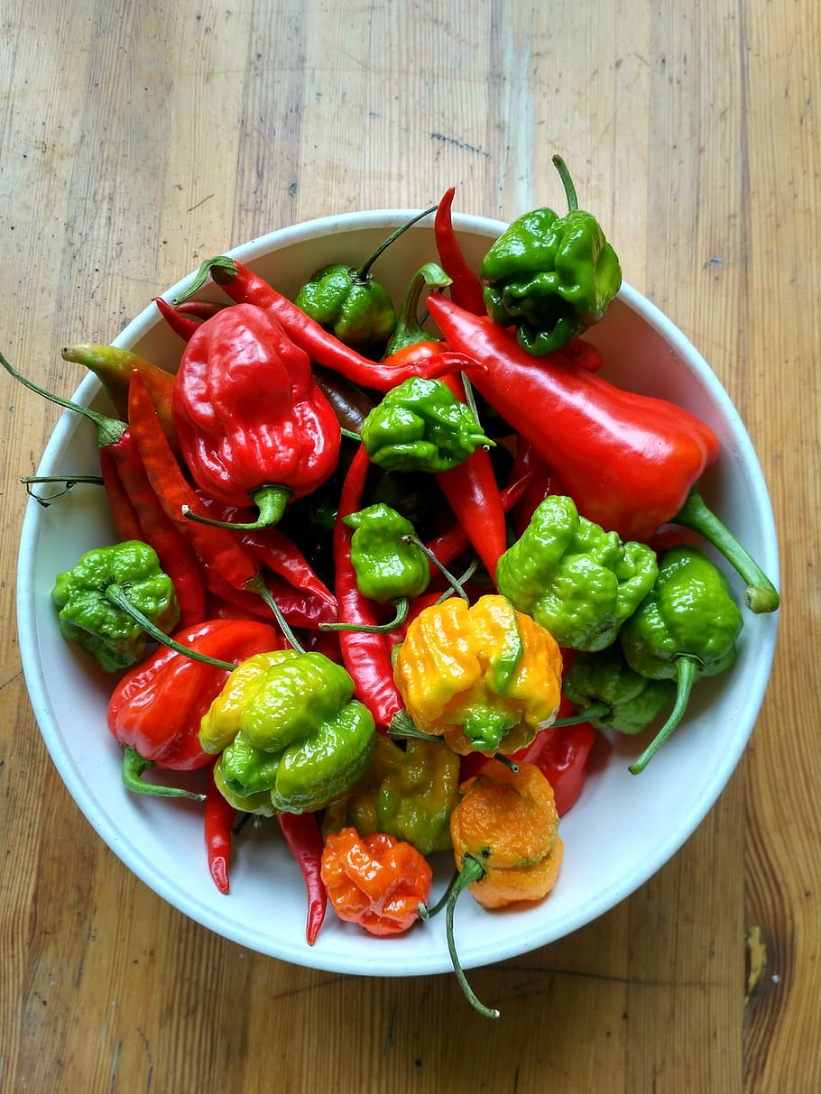 Hot Peppers in a Bowl