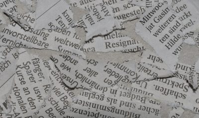 scraps of newspaper